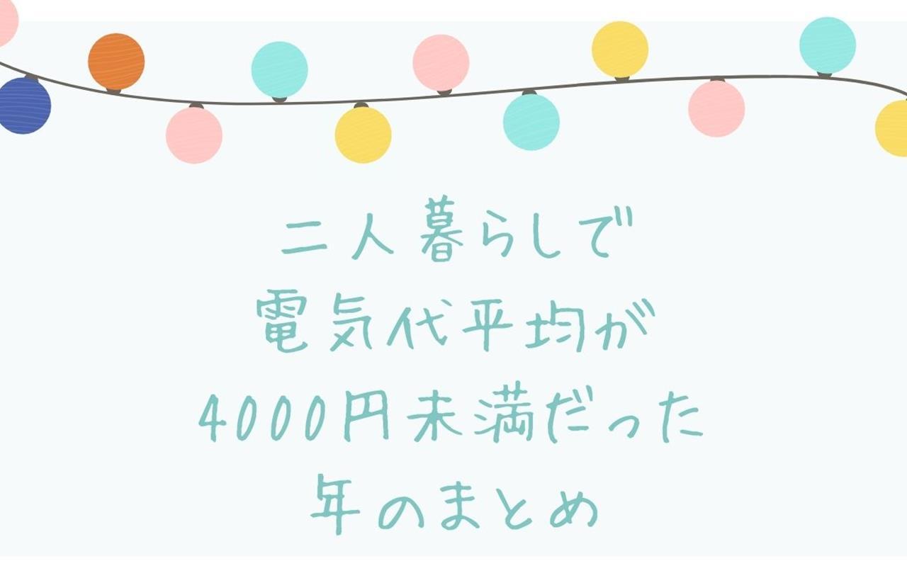 二人暮らしの電気代4000円のブログ画像